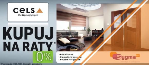 raty 0% zakupy w CELS