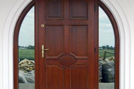 drewniane, drzwi na zewnątrz, ciepłe