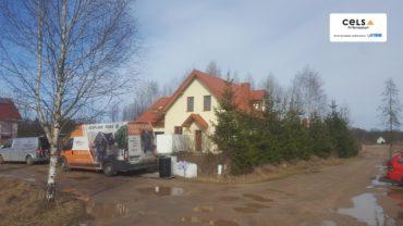 Izolacja poddasza pianką natryskową w miejscowości Mała Huta pod Suwałkami