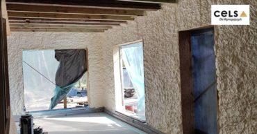 ocieplenie domu drewnianego, pianka, cels,
