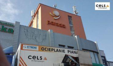 ocieplenie centrum handlowego, Lublin,