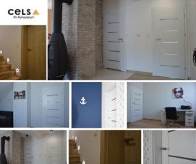 Drzwi wewnętrze - styl minimalistyczny