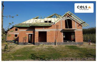 Betonowy dach skośny - ocieplenie