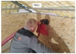 uzupełnienie izolacji, docieplenie dachu, celuloza, termex, izolacja, remont dachu, uzupełnienie ocieplenia, granulat, zasypowa, wełna zasypowa,