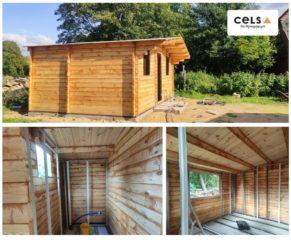 Dom drewniany - szkieletówka