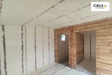 ocieplenie domu drewnianego, szkieletówka,