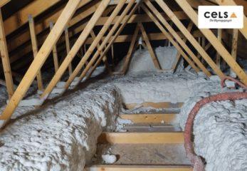 Ocieplenie stropu pianą - grubość 50 cm