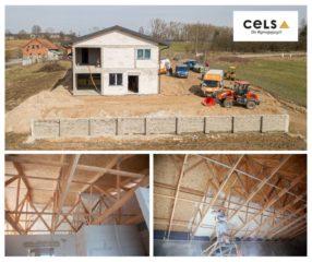 Realizacja ocieplenia pianą miękką dachu wiązarowego w Kukowie k. Olecka