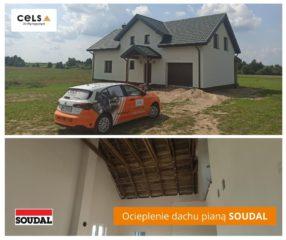Kolejna realizacje ocieplenia dachu pianą PUR Soudal w woj. Warmińsko-Mazurskim