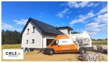 Ocieplenie pianą PUR Soudal dachu w nowym budynku w woj. Warmińsko-Mazurskim