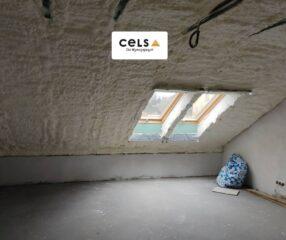 izolacja, pianka Soudal, poddasze, dach, ocieplenie, piana Soudal, docieplenie,